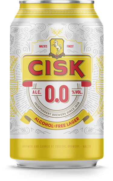 Cisk Lager 0.0 Non Alcoholic can 33cl x 6Pack