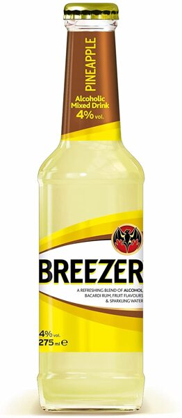 Bacardi Breezer Pineapple btl 25cl