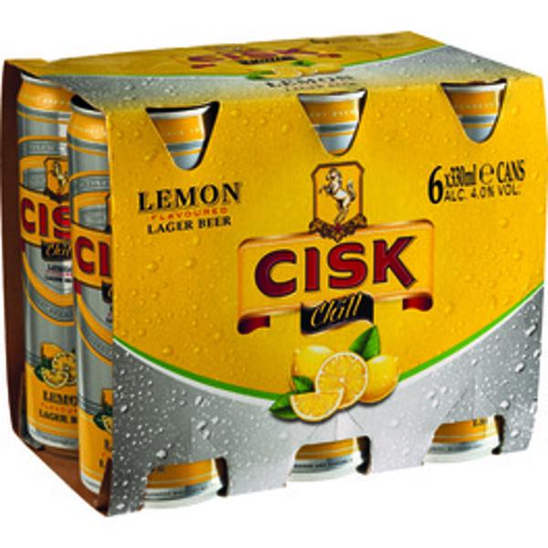 Cisk Chill Lemon can 33cl x 6Pack