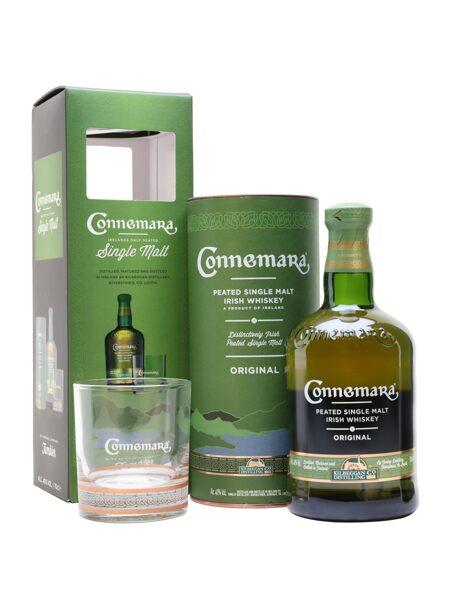 Connemara Irish Peated 70cl + 1 Glass Gift Set