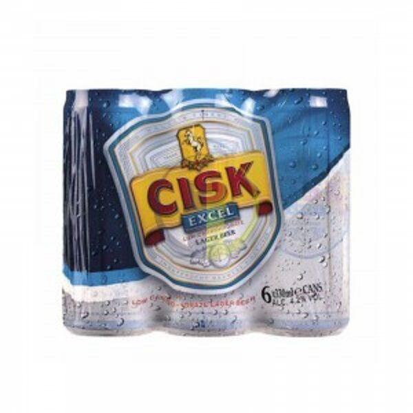 Cisk Excel can 33cl x 6 Pack