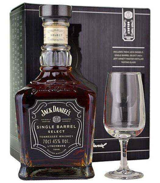 Jack Daniels Single Barrel 70cl + 1 Glass Gift Set