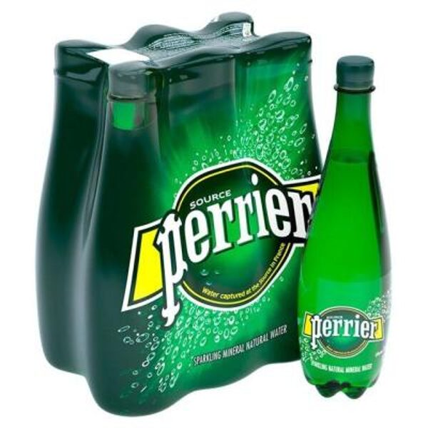 Perrier Sparkling Water PET 1Ltr x 6
